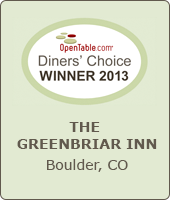 OpenTable Diners' Choice Winner 2013