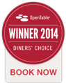 OpenTable Diners' Choice Winner 2014